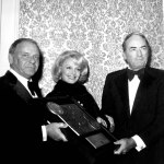 Frank Sinatra, Barbara Sinatra and Gregory Peck